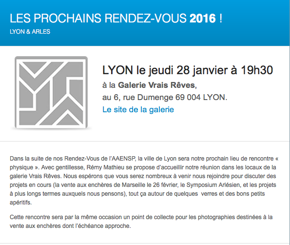 RV à Lyon 28 janvier 2016